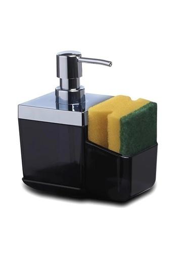 Primanova Primanova Toscana Süngerlikli Mutfak Sıvı Sabunluk Dispenser Siyah Siyah